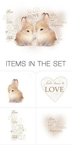 """""""Bunny Love"""" by sue-wilson1967 ❤ liked on Polyvore featuring art"""