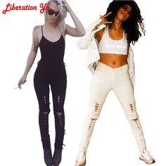 (31.84$)  Watch here  - 2017 Slim Jeans For Women Skinny High Waist Jeans Woman  Denim Pencil Pants Stretch Waist Women Jeans Black Pants 60361