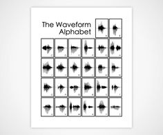 Artistic Sound Wave Prints