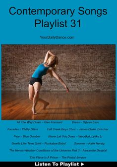 Contemporary Songs For Dancers...  #dance #dancers #music