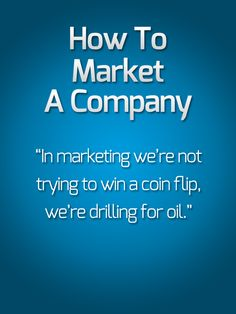 "Watch ""How To Market A Company"" and the entire Modern Marketing Mastery video series from Eben Pagan in free, HD quality here: http://modernmarketingmastery.com/s/8    How to market a company if you're just starting out."