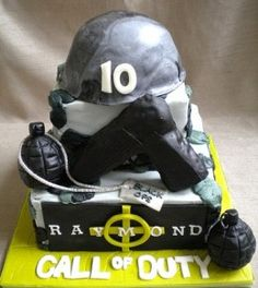 This page features Call of Duty cake and cupcake supplies. Some of the supplies include edible cake images, cupcake picks, cupcake liners and cake toppers. You could use these ideas for an Army/Camo theme party. Army Cake, Military Cake, Military Party, Army Party, Cupcake Supplies, Kids Party Supplies, Cupcakes, Cupcake Cakes, Cupcake Picks