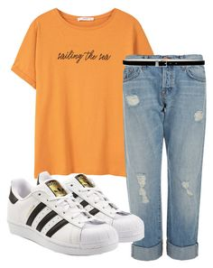 """Untitled #168"" by kingrabia on Polyvore featuring MANGO, J Brand, adidas Originals and Nine West"