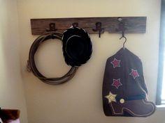 Cowboy boot hook rack
