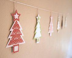 DIY Christmas Tree Garland DIY Crafts