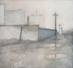 Miklos Szüts:  Sunshine street 1999/9    oil on canvas    80 x 85 cm