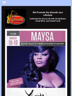 Maysa at Yoshi's Jazz Club, Oakland, CA on March 18-19, 2017.