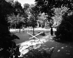 Jardim da Estrela, parque infantil, 1957, foto de