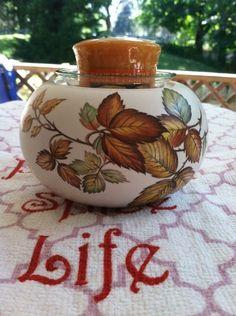 Vintage Marisa Italy Candle Holder w/Yankee Candle Pumpkin Pie Votive