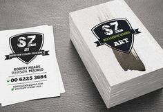 business card, brushwork by SZeta on Creative Market