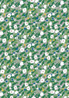 KESÄHEINÄ / Pattern design: Aino-Maija Metsola / Kesäheinä(summer hay) depicts a summer field, swaying in a gentle breeze. (Available in Mar...