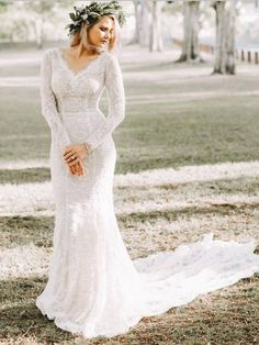 Fantastic Mermaid V-Neck Long Sweep Train With Long Sleeves,Sexy Open Back Long Wedding Dresses With Lace Wedding Dress Mermaid Wedding Dress With Sleeves Long Wedding Dress Sexy Wedding Dress Wedding Dress Lace Wedding Dresses 2018 Western Wedding Dresses, Wedding Dresses 2018, Bridal Dresses, Mountain Wedding Dresses, Sheath Wedding Dresses, Straight Wedding Dresses, October Wedding Dresses, Sheath Dresses, Quinceanera Dresses