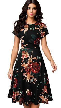1950s Swing Dress, Pinup, Women's Flares, Cheap Dresses, Women's A Line Dresses, Fall Dresses, Party Dresses, Nice Dresses, 98