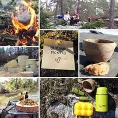 Utomhus (outdoor) picnic Hoppas jag med detta inlägg kan inspirera fler att ta med och göra middagen utomhus.