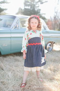 Strawberry Fields retro vintageinspired peasant by TheMeasure