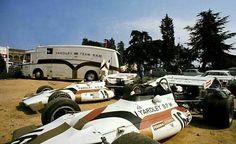 Pedro Rodriguez N° 14 & Howden Ganley N° 16 (BRM P160) Grand Prix d'Espagne - circuit de Montjuïc 197.