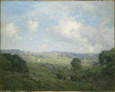 """Rural Landscape,"" Charles Harold Davis, 1905, oil on canvas, 28 1/2 x 35 1/2"", Harvard Art Museums/Fogg Museum."