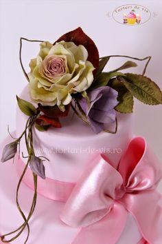 Torturi - Viorica's cakes: Tort cu trandafiri pentru Adriana
