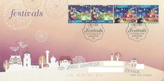 Singapore's 2012 Christmas stamps and first day cover.