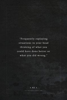 It's not doing it that is problematic, you need to review you deeds, you just have to be careful not get carried away ... thinking is what you do best, try to be objective and not connect too many dots, they might belong to another picture ...