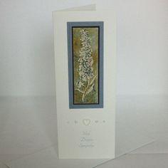 Blue floral sympathy card £1.80