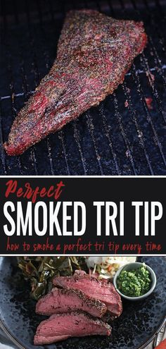 How to perfectly smoke a Tri Tip. Smoked Tri Tip is easy and delicious and doesn't take very long to cook. Learn the secrets plus wine pairing recommendations. meat Easy Smoked Tri-Tip (recipe and wine pairing) Vindulge Traeger Recipes, Smoked Meat Recipes, Grilling Recipes, Tri Tip Smoker Recipes, Grilled Tri Tip Recipes, Beef Recipes, Traeger Smoker, Avocado Recipes, Smoker Recipes