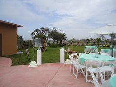 Arco de luces  al aire libre en Jardin de Fiestas Calypso Gardens