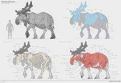 Mooslephant (&Studies) by Sam Santala | Creatures | 2D | CGSociety