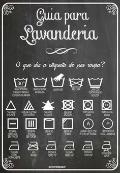 :: Guide for laundry :: Poster. Personal Organizer, Home Hacks, Organization Hacks, Getting Organized, Clean House, Good To Know, Decoration, Helpful Hints, Sweet Home