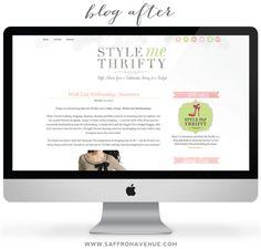 Blog Design: Style Me Thrifty - Saffron Avenue : Saffron Avenue