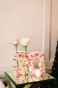 """Chic Chanel-Inspired 30th Birthday Bash: Gorgeous floral """"30"""" decoration"""