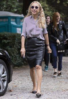 Franca Sozzani, Milan Fashion Week spring/summer 2015 Over 60 Fashion, Milan Fashion, Mean Women, Style And Grace, Style Icons, Cool Girl, Summer 2015, Spring Summer, Going Out