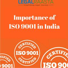 If you want to know about ISO 9001 or want to register it, You can contact #LegalRaasta, India's leading legal services provider. #ISO9001  #ApplyISOregistrationOnline  #LegalServices