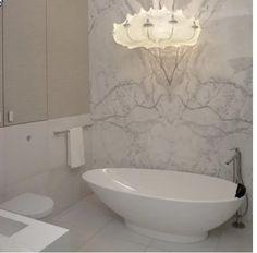 Marble Tile Bathroom, Tub Tile, Bathroom Tile Designs, Marble Wall, Bathroom Tubs, Bathroom Ideas, Apartment Layout, Apartment Interior, Bathroom Interior