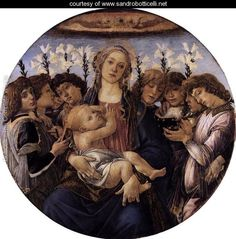 Madonna and Child with Eight Angels c. 1478 - Sandro Botticelli (Alessandro Filipepi)