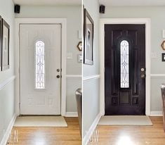 interior doors painted a dramatic glossy black. So maybe this will sway me to paint my door red?