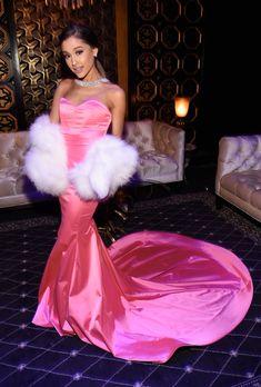 Ariana Grande attends the 2016 MTV Movie Awards at Warner Bros. Studios on April 9, 2016 in Burbank, California.