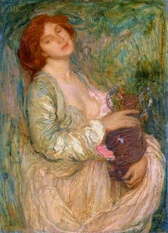 Edmond Francois Aman-Jean - Woman with Vase | Flickr - Photo Sharing!