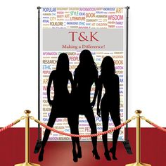 Stand out from the crowd as you pose in front of our totally unique and fun Custom Red Carpet Culture Banner. This incredible banner is made from a durable poly oxford canvas so it will hold up until the last photo is snapped! The banner features a broad gray banner that displays a name or message in your choice of different font colors. The background of the banner displays cultural slogans in multi-colored text and inspires the imagination! Choose from either small or large and display on…