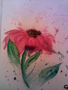 Watercolor flower $10 or $15