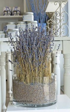 a lavender cottage . X ღɱɧღ Lavender Decor, Lavender Crafts, Lavender Bathroom, Lavender Cottage, Lavender Wreath, Lavander, Lavender Blue, Lavender Fields, Drying Lavender
