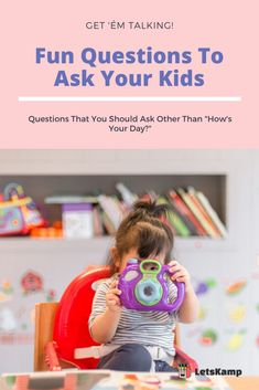 Do you want to know more about your kid and develop a stronger bond? Then you should learn these questions to ask kids. It's simple yet fun and exciting! The best part about this is that these daily questions for kids are free! Click now to learn more! Fun Questions To Ask, This Or That Questions, Funny Kids, Your Child, Bond, Activities, Learning, Children, Simple