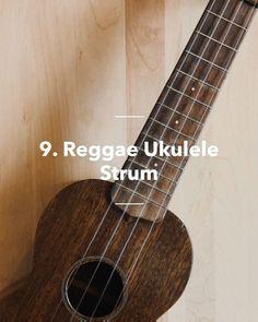 Reggae Ukulele Strum in 10 steps Ukulele Tabs Songs, Ukulele Songs Beginner, Cool Ukulele, Guitar Chords For Songs, Music Chords, Cool Guitar, Strumming Patterns Ukulele, Painted Ukulele, Cool Music Videos
