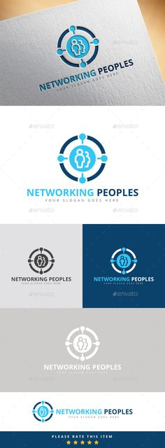 Networking Peoples Logo Template Vector EPS, AI #logotype Download here: http://graphicriver.net/item/networking-peoples-logo/10393181?ref=ksioks