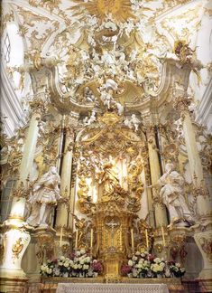 High altar, Regensburg's Alte Kapelle (Basilica of Our Lady of the Old Chapel) in Bavaria, Germany.