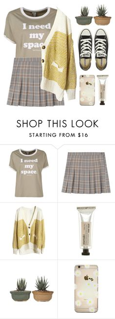 """""""Andrea"""" by soym ❤ liked on Polyvore featuring Meraki and Converse"""
