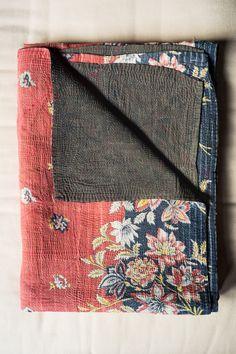 Hand-Stitched Kantha Gudri Throw Blanket 019