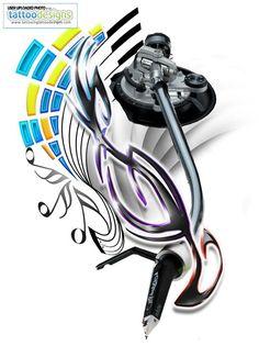 DJ Tattoo Designs | Dj Tattoo By Neogzus Bqkko Image | Tattooing Tattoo Designs