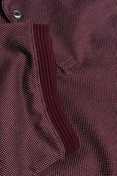 Buy Burgundy Premium Jacquard Dot Polo online today at Next: Portugal