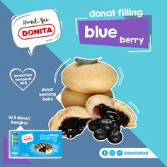 Donita Donat Filling. Donat Kentang Beku isi Blueberry